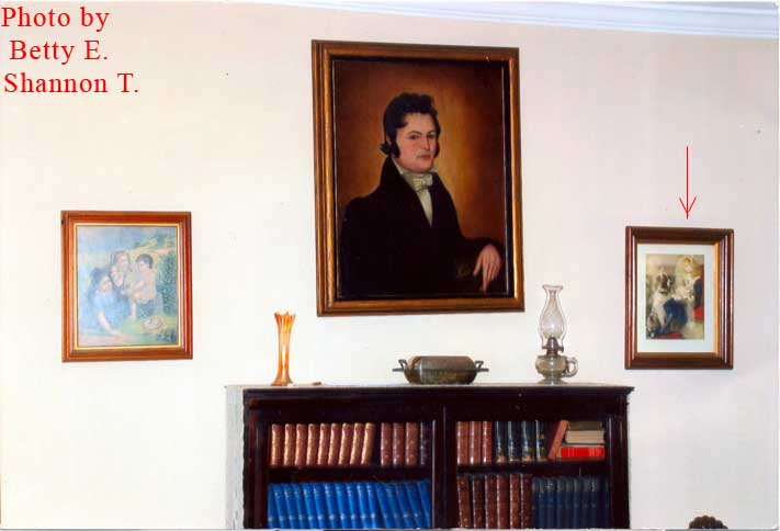 Wall and painting in Senator Humphrey House.