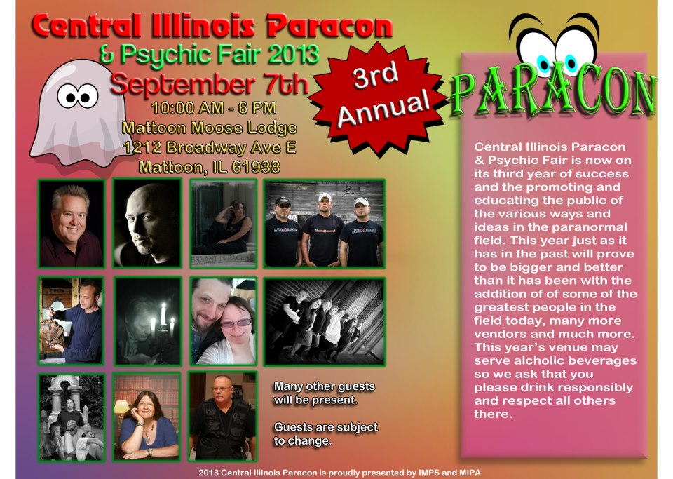 2013 Central IL Paracon and Psychic Fair with Edward Shanahan