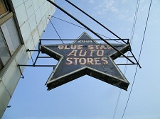 Blue Star Auto Store Sign